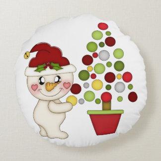 Travesseiro do Natal de Reverseable Almofada Redonda