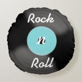 Travesseiro do registro do rolo da rocha N Almofada Redonda