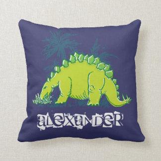 Travesseiro do verde azul do Stegosaurus do Almofada