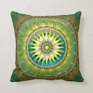 Travesseiro do verde da mandala almofada