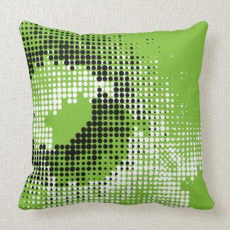 Travesseiro do verde, o preto & o branco