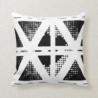 Travesseiro étnico preto & branco almofada