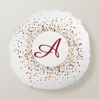Travesseiro feito sob encomenda do monograma dos almofada redonda