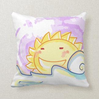 Travesseiro feliz da elevação do sol