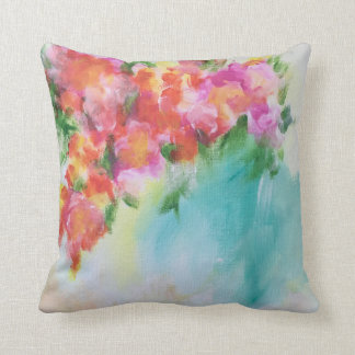 Travesseiro floral abstrato