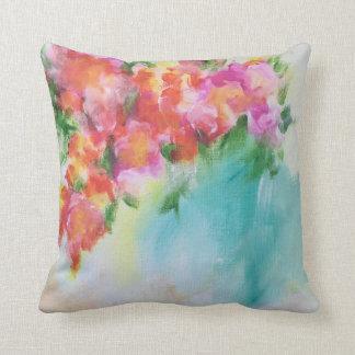 Travesseiro floral abstrato almofada