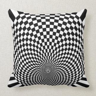 Travesseiro gráfico preto e branco