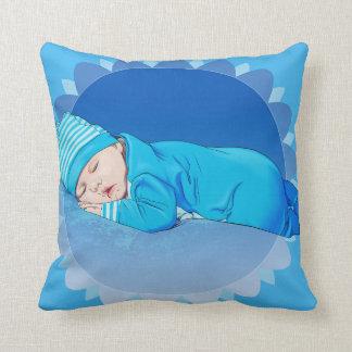 travesseiro infantil bonito da ilustração do bebé almofada