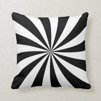Travesseiro listrado preto e branco de Starburst
