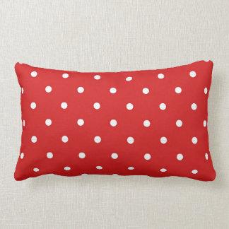 Travesseiro lombar das bolinhas brancas vermelhas almofada lombar