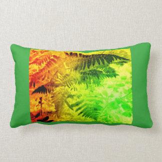Travesseiro lombar do abstrato amarelo verde almofada lombar