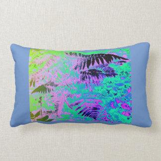 Travesseiro lombar do abstrato verde roxo azul da