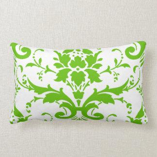 Travesseiro lombar do damasco verde almofada lombar