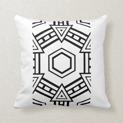 travesseiro moderno preto e branco