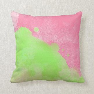 Travesseiro Pastel da decoração do verde limão do Almofada