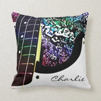 Travesseiro personalizado das notas da música do almofada