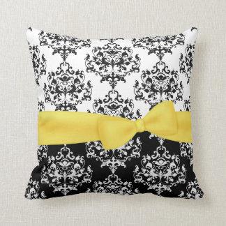 Travesseiro preto & branco chique do decorador do