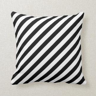 Travesseiro preto/branco das listras
