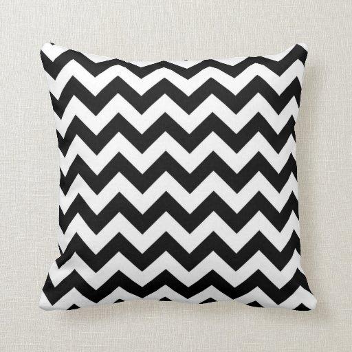 Travesseiro preto & branco de Chevron