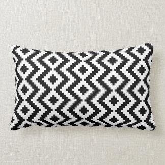 Travesseiro preto & branco de Kilim Almofada Lombar