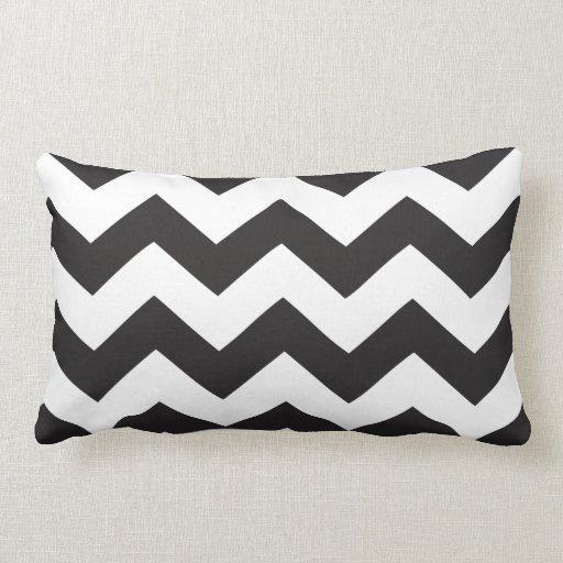 Travesseiro preto & do branco | do ziguezague |