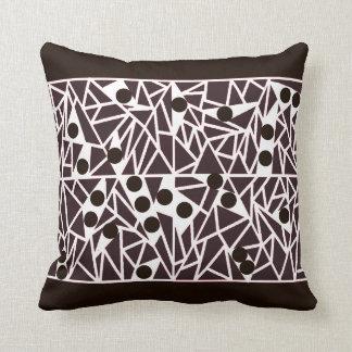 Travesseiro preto e branco da arte contemporânea
