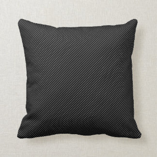 Travesseiro preto e branco da listra