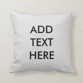 Travesseiro preto e branco personalizado das