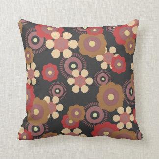 Travesseiro retro da flor almofada