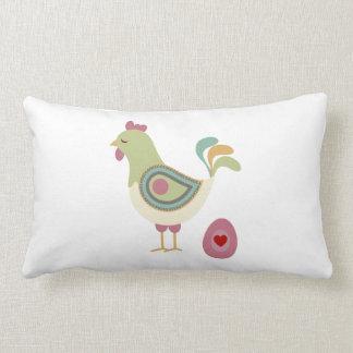Travesseiro retro da galinha e do ovo almofada lombar