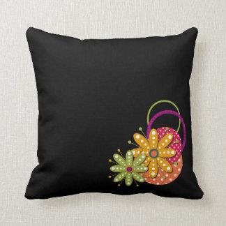 Travesseiro retro Funky do divertimento da flor Almofada