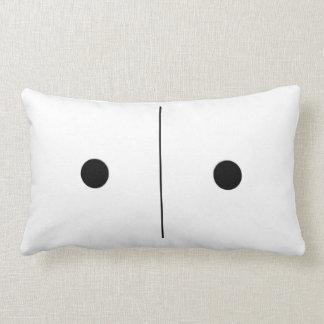 Travesseiro reversível do dominó dos olhos de almofada lombar