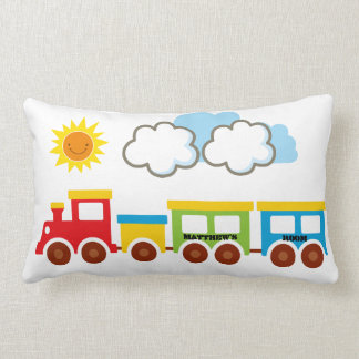 Travesseiro reversível do trem a personalizar