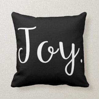 Travesseiro reversível preto e branco do acento -