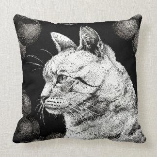 Travesseiro velho sábio do quadrado do gato almofada