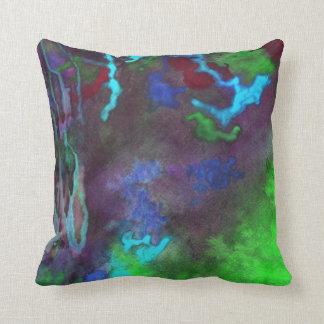Travesseiro verde da fusão almofada
