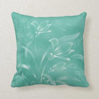 Travesseiro verde das flores almofada