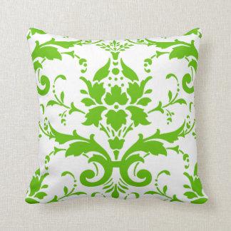 Travesseiro verde do design do damasco almofada