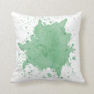 Travesseiro verde do Splatter Almofada
