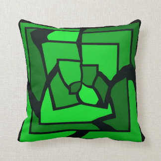 Travesseiro verde do vitral de Labryinth Almofada