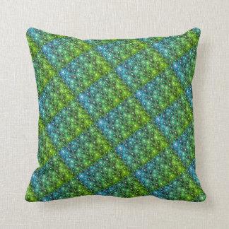 travesseiro verde e azul do design almofada