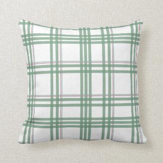 Travesseiro verde, roxo, & azul do teste padrão do