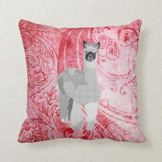 Travesseiro vermelho de MoJo da arte da alpaca