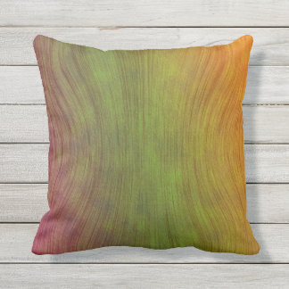 Travesseiro vermelho exterior do verde amarelo do almofada