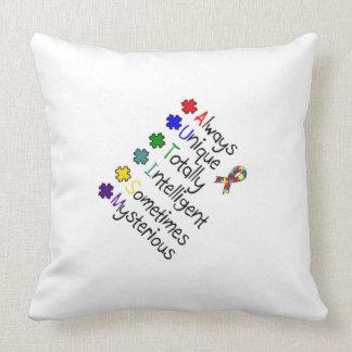 Travesseiros da consciência & do apoio do autismo almofada