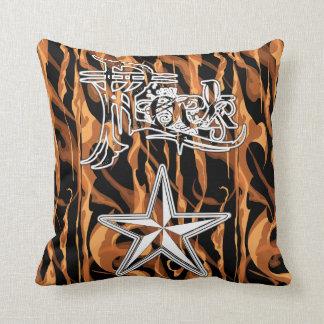 Travesseiros do fogo da estrela do rock almofada