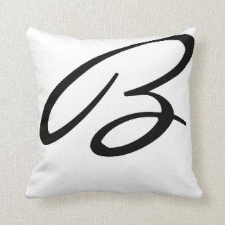 Travesseiros do monograma almofada