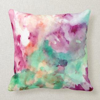 Travesseiros florais bonito do abstrato da