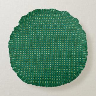 Travesseiros redondos do desenhista verde do almofada redonda