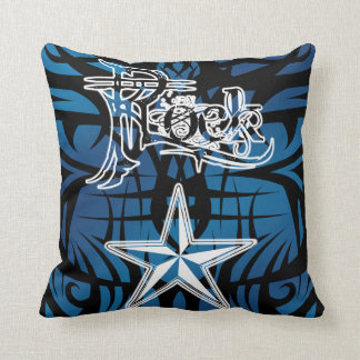 Travesseiros tribais azuis da estrela do rock almofada